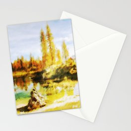 Color trees in autumn Stationery Cards
