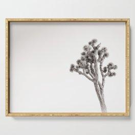 Joshua Tree in Black & White Serving Tray