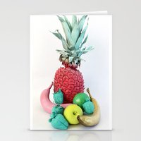 fruits Stationery Cards featuring Fruits by Luna Portnoi