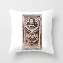 Stone Carving at Bethesda Terrace in Central Park. Throw Pillow