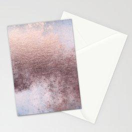 Princess Retro Rose Gold Blush Stationery Cards