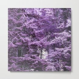 Infrared Trees Forest Metal Print