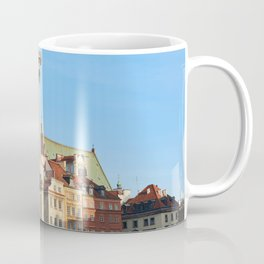 Warsaw Poland Monuments Town square columns Houses Cities Column Building Coffee Mug