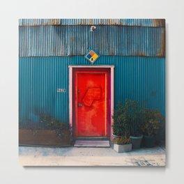 Red Door Downtown Metal Print