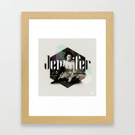 Divas: Jennifer Connelly. Framed Art Print