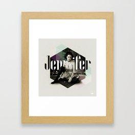 Divas: Jennifer Connelly. Framed Art Print