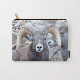 Watercolor Sheep, Bighorn Ram 34, Drake, Colorado Carry-All Pouch