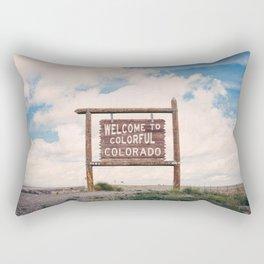 Welcome to Colorful Colorado Rectangular Pillow