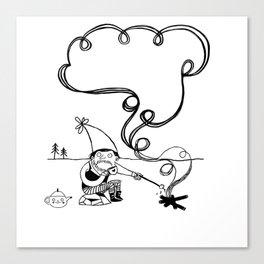 Tea and Marshmallows Canvas Print