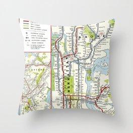 Metro NY Throw Pillow