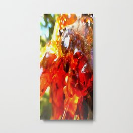 Apricot Resin Abstract Metal Print