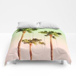 PASTEL PALM TREES Comforters