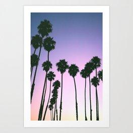 Palm Tree Purple Sunset Art Print