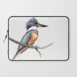 Kingfisher Bird Watercolor Illustration Laptop Sleeve