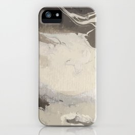 Marbled Hot Chocolate iPhone Case