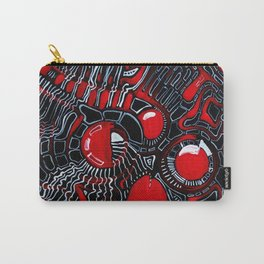 Red Maze Carry-All Pouch