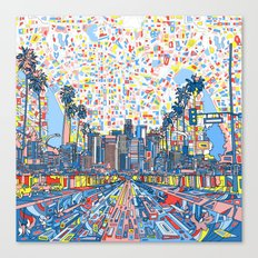 los angeles city skyline Canvas Print