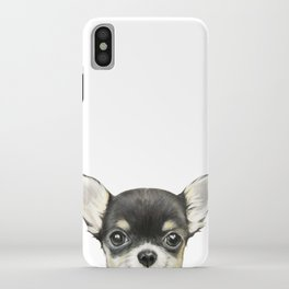 Chihuahua mix color Dog illustration original painting print iPhone Case