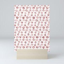 Girly Fashion Lips Rose Gold Lipstick Pattern Mini Art Print