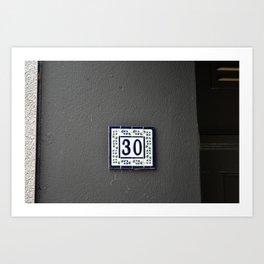 30 Art Print