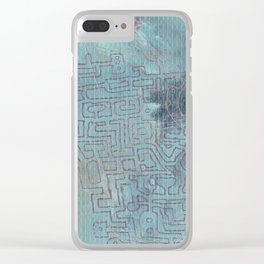 Aether Maze Clear iPhone Case