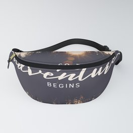 And So the Adventure Begins II Fanny Pack