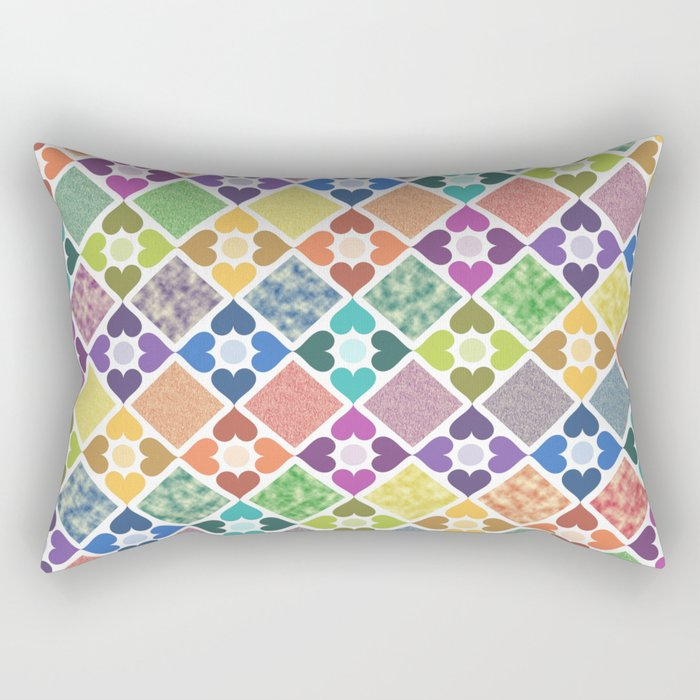 Colorful Floral Pattern III Rectangular Pillow