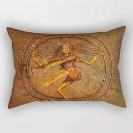 Shiva On A Distressed Background Rectangular Pillow