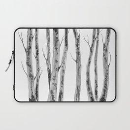 Birch Trees   Indian Ink Illustration   Canadian Art Laptop Sleeve