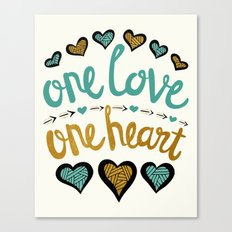 One Love One Heart Canvas Print