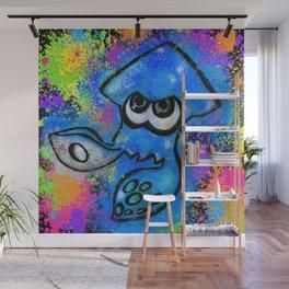 I've Got an Inkling - Blue on Black Wall Mural