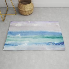 13    190907   Watercolor Abstract Painting Rug