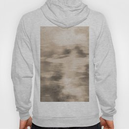 Fusion Abstract Watercolor Blend Pantone Hazelnut / Fluid Art Ink Hoody