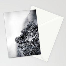 Mountain black white 5 photo Stationery Cards