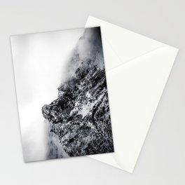 Mountain black white 5 photo Stationery Cards