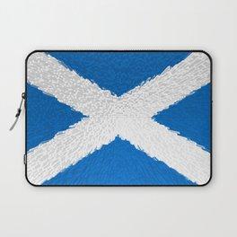 Extruded flag of Scotland Laptop Sleeve