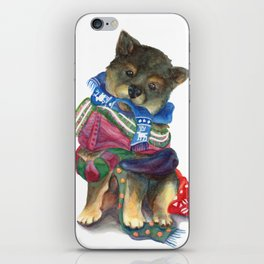 Covered in Neck Blankets iPhone Skin