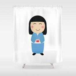 kokeshi doll Shower Curtain
