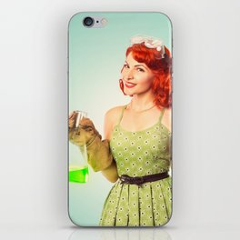 Distractingly Sexy Scientist Pinup iPhone Skin