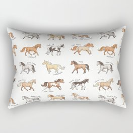 Horses Rectangular Pillow