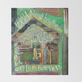 House of Books Throw Blanket