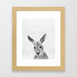 Kangaroo, Animal, ZOO, Australia, Nursery, Minimal, Modern, Wall art Framed Art Print