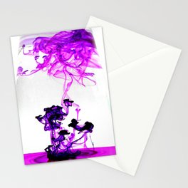 Purple bomb Stationery Cards