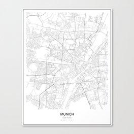 Munich, Germany Minimalist Map Canvas Print