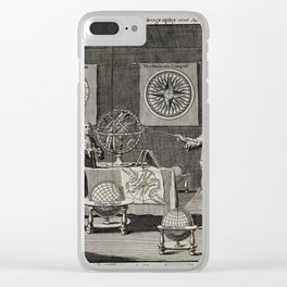 Engraving: the First Lecture in the Sciences of Geography and Astronomy (1748) Clear iPhone Case