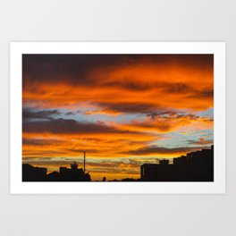 LA Sunset Art Print
