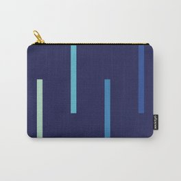 Abstract Minimal Retro Stripes Surf Carry-All Pouch