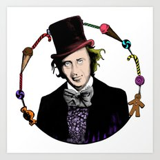 Merry Christmas From The Chocolate Factory Art Print