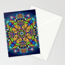 Psychedelic Mandala Visionary Art -Night Circus Stationery Cards