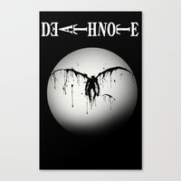 death note Canvas Prints featuring Death note by sgrunfo